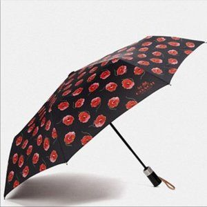 Coach Poppy Print Umbrella ~ FULL SIZE NWT